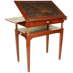 Late 18th Century Mahogany Architect's Table, in the Manner of Canabas
