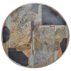 Paul Kingma Round Artwork Coffee Table, Holland, 1978