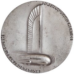 Machine Age Art Deco Norman Bel Geddes Medallion, General Motors Anniversary