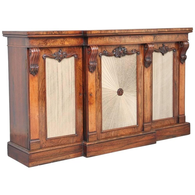 19th Century Rosewood Breakfront Cabinet