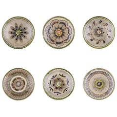 Traditional Romanian Dinner Plates, Set of Six
