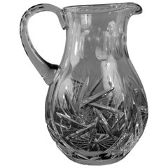 Engraved Crystal Cider Pitcher