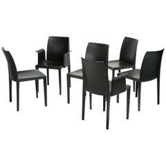 Set of Six Poltrona Frau Lola Chairs Designed by Pierluigi Cerri