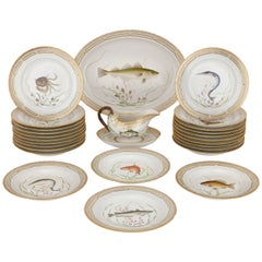 Antique Flora Danica Porcelain Dinner Service from Royal Copenhagen