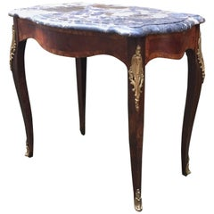 Louis XV Style Turtle Top Breche Marble and Ormolu Stand