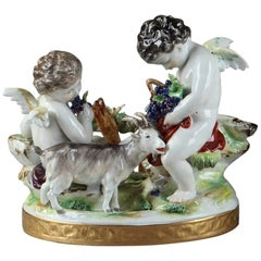Late 18th Century German Ludwigsburg Porcelain Figural Groups