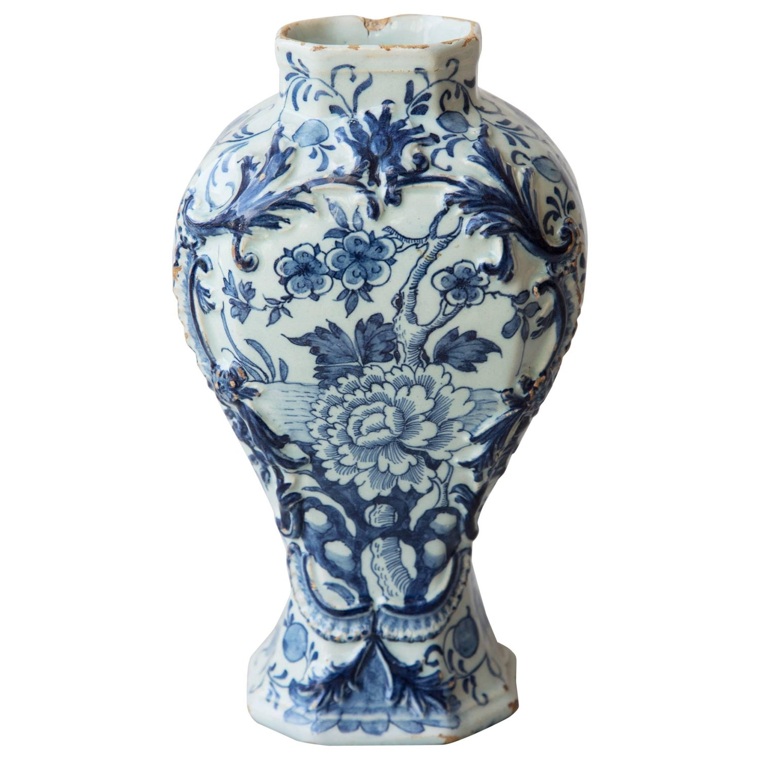 18th century octagonal baluster delft vase for sale at 1stdibs reviewsmspy