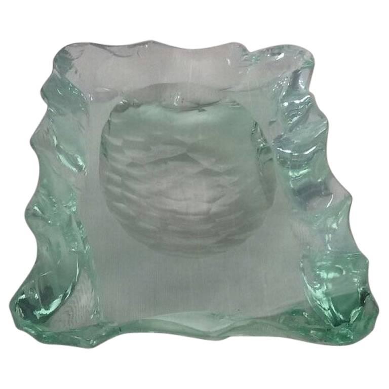 Rare 1950s Max Ingrand for Fontana Arte Cut Glass Vide Poche/Bowl/Dish