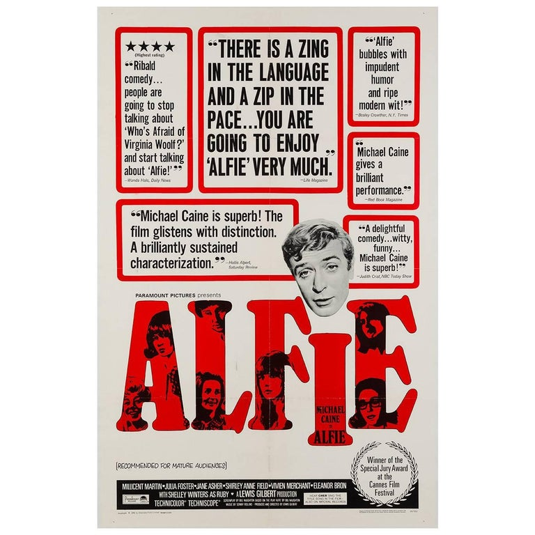 Alfie US Film Poster, 1966
