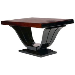 Austrian Art Deco Rosewood and Ebonized Side Table, circa 1920s