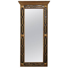 Antique Large Quality Victorian Full Length Gilt Hall Wall Mirror