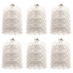 Set of Six Orrefors Chandeliers by Gert Nyström, 1950s