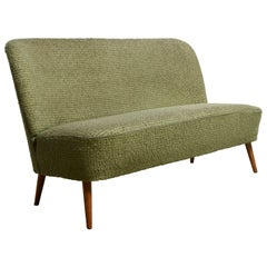 Artifort Green Wool Sofa Loveseat by Theo Ruth