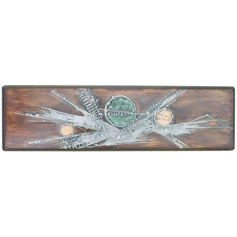 Copper Panel Wall Sculpture Signed with Jung 78, Germany, 1970s
