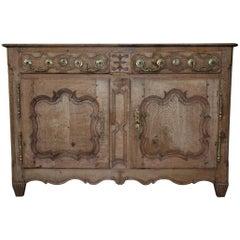 Early 19th Century Oak Louis Quinze Sideboard
