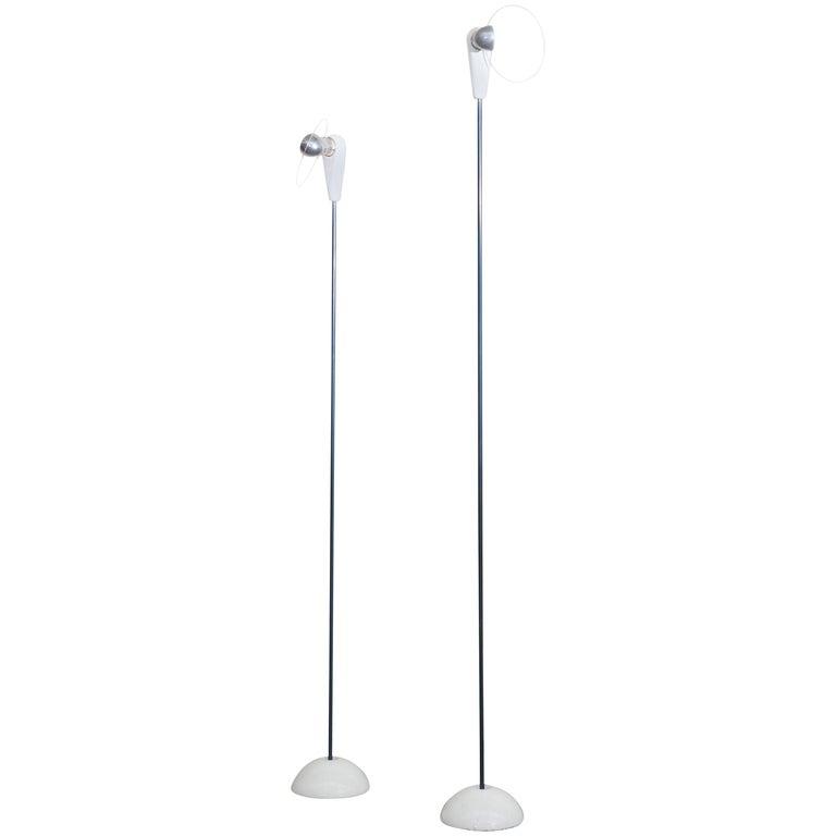 Flos 'Bip-Bip' Floor Lamps by Achille Castiglioni For Sale