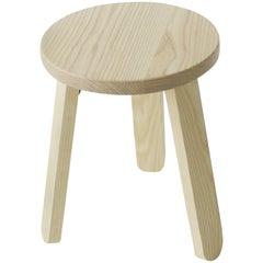 Solid Wood Three-Legged Stool