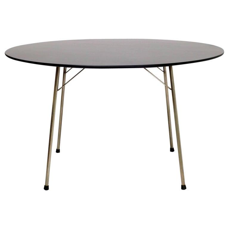 Arne Jacobsen for Fritz Hansen Black Dining Table 1970s Denmark