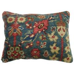 Green Persian Mahal Rug Pillow