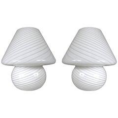 Pair of 1970s Italian Murano Glass Lamps