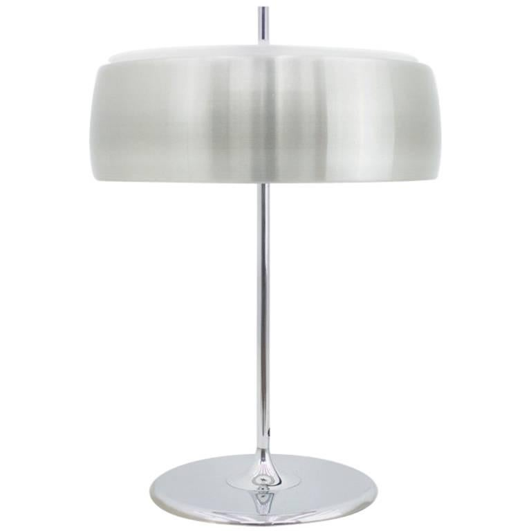 Aluminium and Chrome Table Lamp by WILA ,1970s