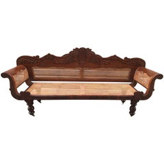 19th Century West Indies Cedrela and Caned Settee