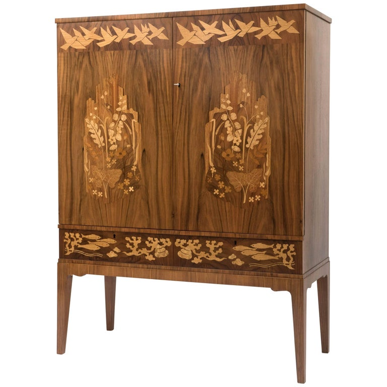 John Cederquist Heavenly Victory Cabinet With Mixed Wood
