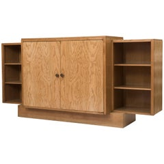 Jacques Emile Ruhlman oak bookcase, France circa 1930
