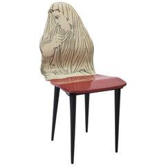 """Piero Fornasetti chair """"Quattro Stagioni"""", winter, Italy circa 1950"""