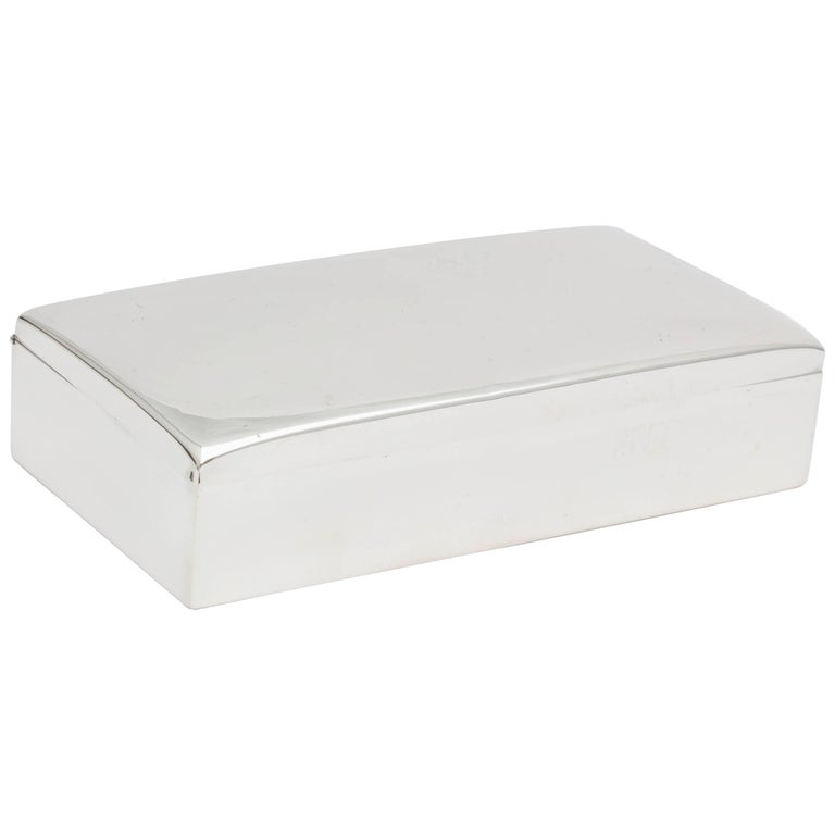 Cartier Art Deco Sterling Silver Table Box