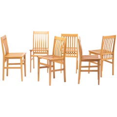 Set of Six Milano Chairs by Aldo Rossi for Molteni