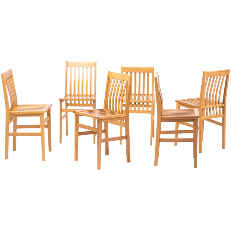 Set of Six Milano Chairs by Aldo Rossi for Molteni For Sale