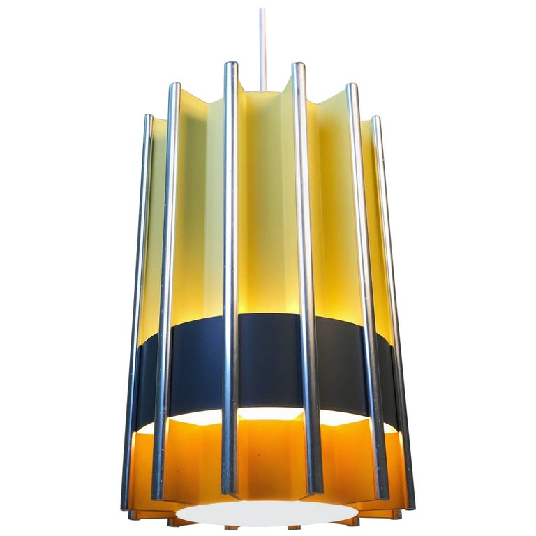 Rare Ceiling Pendant by Bent Karlby for Lyfa, Mid-1960s, Denmark For Sale