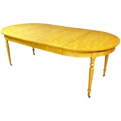 19th Century Round Extendable Table Biedermeier Revival