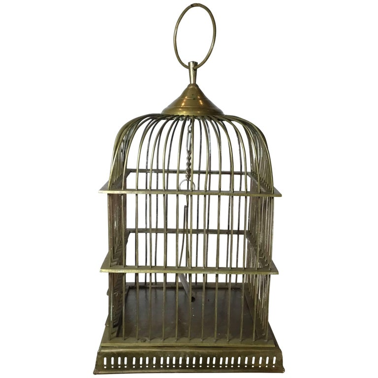 Antique Brass Birdcage