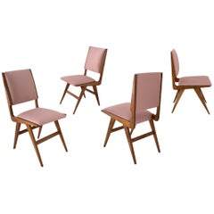 Martin Eisler & Carlo Hauner, Set of Four Chairs, Forma Moves, Brazil, 1950