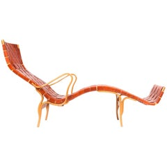 Bruno Mathsson Leather Chaise Longue