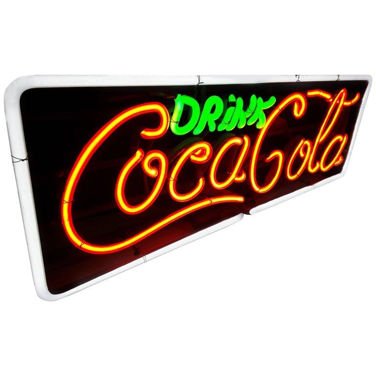 Drink Coca Cola 1960's ***Three Color Neon Sign