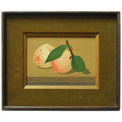 "Midcentury Still Life ""Two Peaches"" by K. Howard"