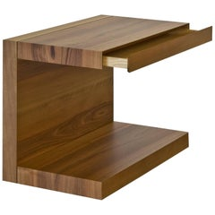 """Scomodino"" C-Shaped Side Table with Drawer by Dessie' Studio"