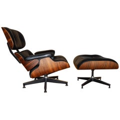 Beautiful Vintage Herman Miller Rosewood Lounge Chair & Ottoman, Charles Eames