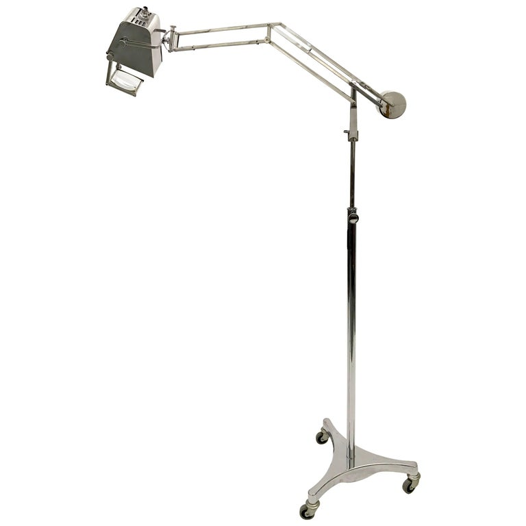 Hadrill and Horstmann Counter Balance Trolley Floor Lamp For Sale