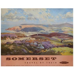 Original Vintage British Railways Poster - Somerset - Travel by Train