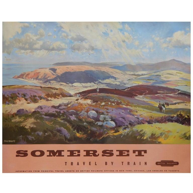 Original Vintage British Railways Poster - Somerset - Travel by Train