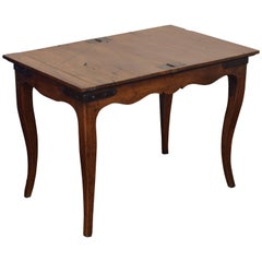 French LXV Period Walnut, Oak, and Inlaid Table De Jeux, Mid-18th Century