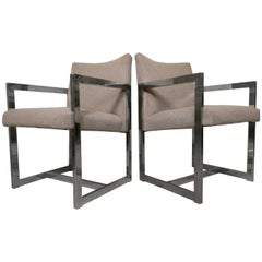 Pair of Chrome Armchairs