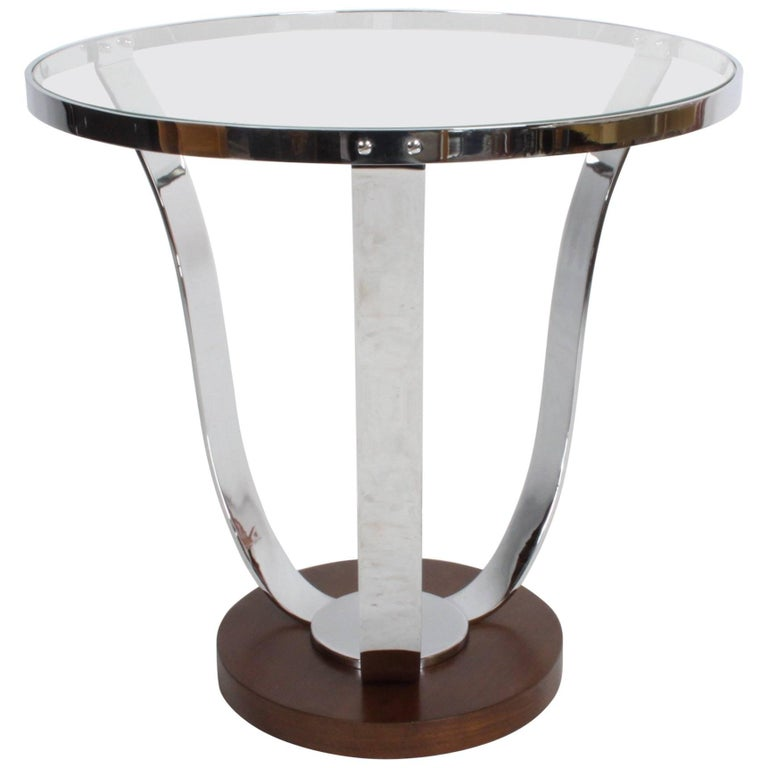 Machine Age or Art Deco Side Table in the Style of Donald Deskey