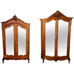 Compatible Pair of Louis XV Style King and Queen Armories