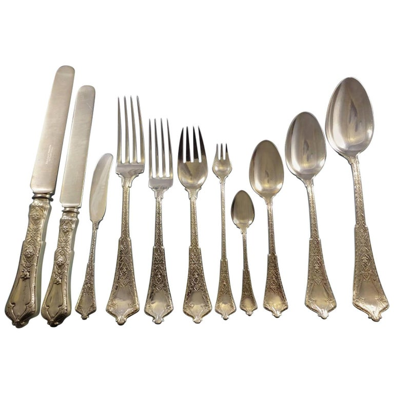 Persian by Tiffany & Co. Sterling Silver Flatware Service Set Dinner 213 Pieces For Sale