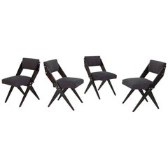 Jose Zanine de Caldas, Set of Four Dining Chairs, Brazil, 1951